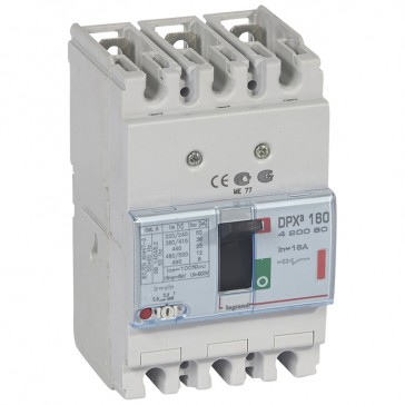 MCCB thermal magnetic - DPX³ 160 - Icu 36 kA 400 V~ - 3P - 16 A