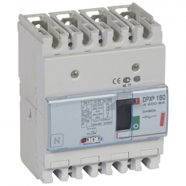 MCCB thermal magnetic - DPX³ 160 - Icu 36 kA 400 V~ - 4P - 80 A