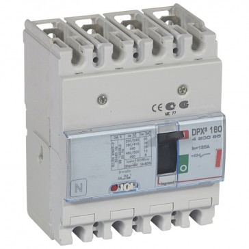 MCCB thermal magnetic - DPX³ 160 - Icu 36 kA 400 V~ - 4P - 125 A