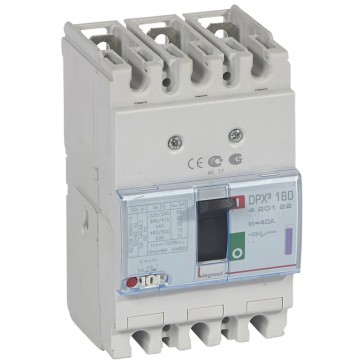 MCCB thermal magnetic - DPX³ 160 - Icu 50 kA 400 V~ - 3P - 40 A