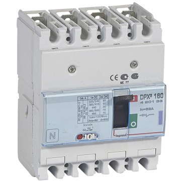 MCCB thermal magnetic - DPX³ 160 - Icu 50 kA 400 V~ - 4P - 63 A