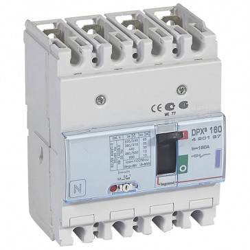 MCCB thermal magnetic - DPX³ 160 - Icu 50 kA 400 V~ - 4P - 160 A
