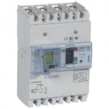 MCCB thermal magnetic with e.l.c.bs - DPX³ 160 - Icu 50 kA 400 V~ - 4P - 40 A