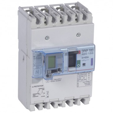 MCCB thermal magnetic with e.l.c.bs - DPX³ 160 - Icu 50 kA 400 V~ - 4P - 63 A