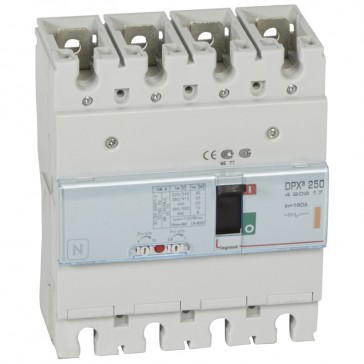MCCB thermal magnetic - DPX³ 250 - Icu 25 kA 400 V~ - 4P - 160 A