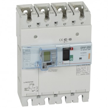 MCCB thermal magnetic with e.l.c.bs - DPX³ 250 - Icu 25 kA 400 V~ - 4P - 200 A
