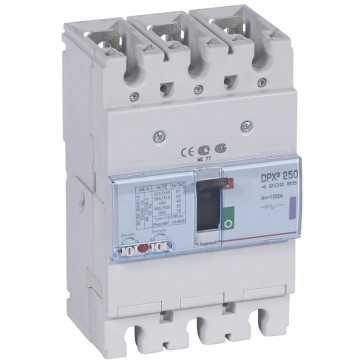 MCCB thermal magnetic - DPX³ 250 - Icu 50 kA 400 V~ - 3P - 100 A
