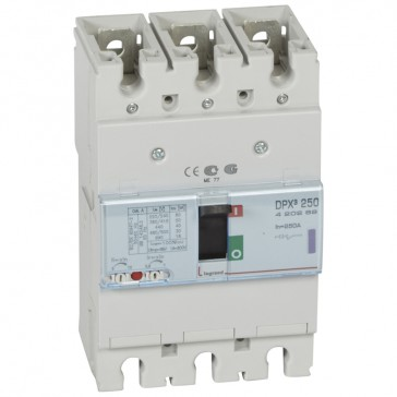 MCCB thermal magnetic - DPX³ 250 - Icu 50 kA 400 V~ - 3P - 250 A