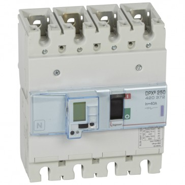 MCCB electronic release - DPX³ 250 - Icu 50 kA 400 V~ - 4P - 40 A