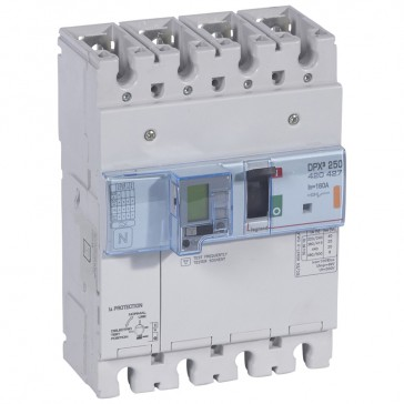 MCCB electronic + energy metering + e.l.c.bs - DPX³ 250 - Icu 25 kA - 4P - 160 A