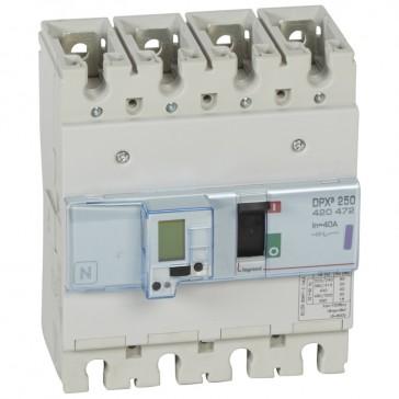 MCCB electronic + energy metering - DPX³ 250 - Icu 50 kA 400 V~ - 4P - 40 A