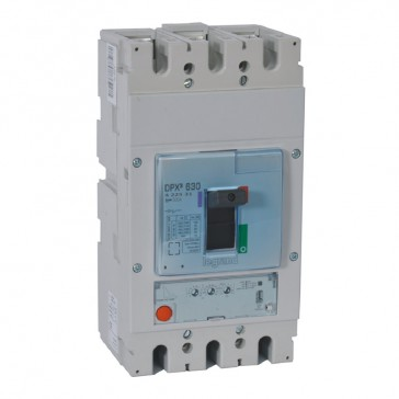 MCCB DPX³ 630 - S1 electronic release - 3P - Icu 100 kA (400 V~) - In 500 A