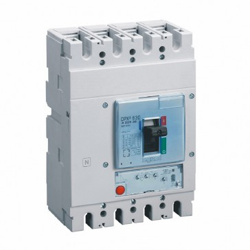MCCB DPX³ 630 - S1 electronic release - 4P - Icu 100 kA (400 V~) - In 500 A