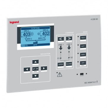 Automatic transfer switch control units - for 3 DMX³ circuit breakers - 8 inputs - 7 outputs
