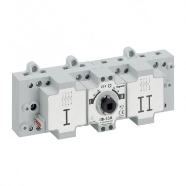 DCX-M changeover switche - size 1 - 3P+N - 63 A - I-O-II