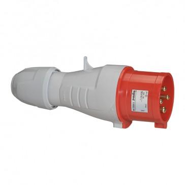 Straight plug P17 - IP44 - 380/415 V~ - 32 A - 3P+E
