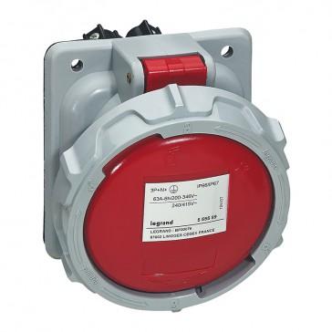Panel mounting socket P17 Pro - IP66/67 - 380/415 V~ - 63 A - 3P+N+E