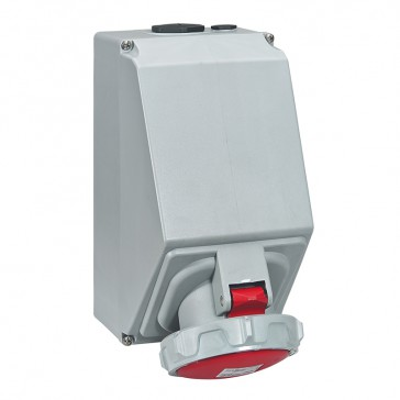 Surface mounting socket P17 Pro - IP66/67 - 380/415 V~ - 125 A - 3P+N+E