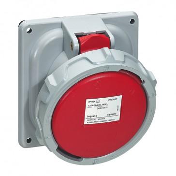Panel mounting socket P17 Pro - IP66/67 - 380/415 V~ - 125 A - 3P+N+E