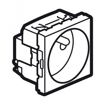 Socket Arteor - French - 2P+E shuttered - 10/16 A - 2 modules - white