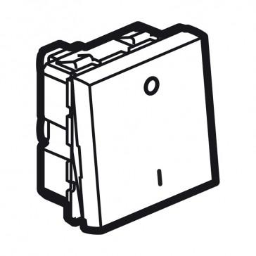 Double pole switch Arteor - 10 AX 250 V~ - 2 modules - white