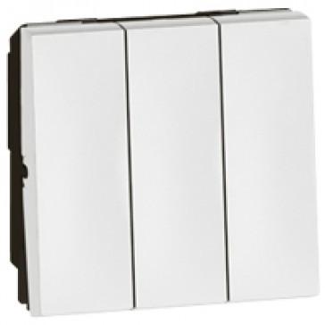 1-way switch Arteor 20 AX 250 V~ - 3-gang - 2 modules - white