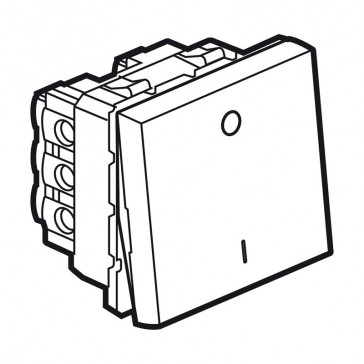 2-way double pole switch Arteor 20 AX 250 V~ - 2 modules - white