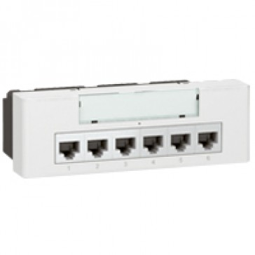 Ethernet 10/1000 base T switch Arteor- non-manageable 230 V supply- 6 modules-white
