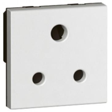 Socket Arteor - BS 546 - 5 A - 2P+E - 2 modules - white