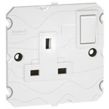 Double pole socket Arteor - BS 546 - 5 A - 2P+E switched - 1-gang - white