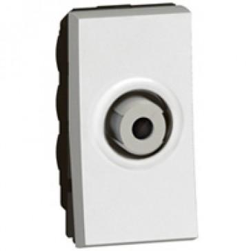 """TV socket Arteor - TV single shielded """"F"""" type - 1 module - white"""