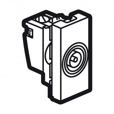 TV socket Arteor - TV single shielded male Ø9.5 mm - 1 module - white