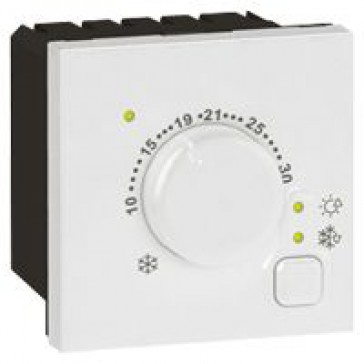 Thermostat for electric floor heating Arteor - 2 modules - white