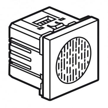 Buzzer Arteor 230 V - 2 modules - white
