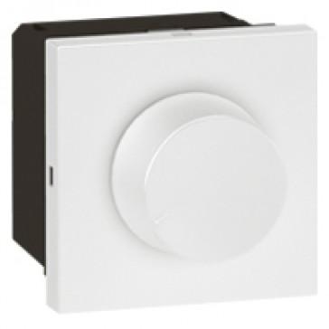 Rotary dimmer Arteor - leading edge - 400 W - 2 modules - white