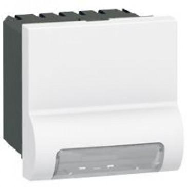 Skirting light Arteor - standard - with LED 230 V - 2 modules - white