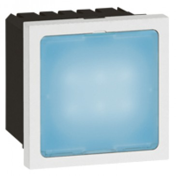 Illuminated signs Arteor - 0.2 or 1 W- blue LEDs - 2 modules - white
