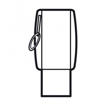 Key fob Arteor for switches 5 722 30/31/53, 5 727 30/53 and 5 734 93 - magnesium