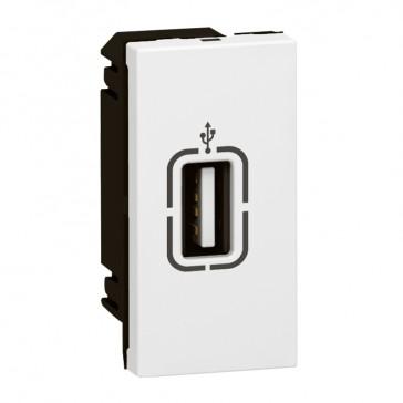 USB female soket Arteor - 1 module - white