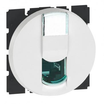 RJ45 socket Arteor - category 6 UTP - 2 round modules - white