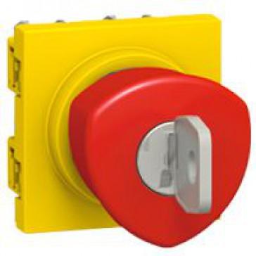 Emergency stop mushroom head push-button Arteor - 1/4 turn - 2 modules