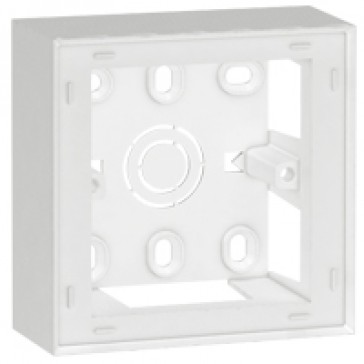 Surface mounting box Arteor - Brit./Germ./French standard - 38 mm depth- 2 modules- 1-gang