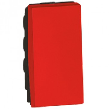 1-way switch Arteor - 10 AX 250 V~ - 1 module - red