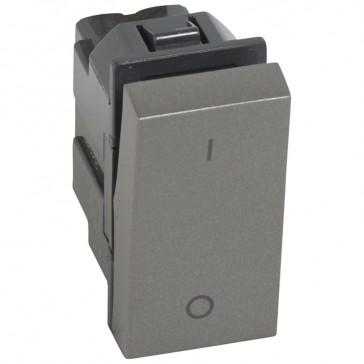1-way double pole switch Arteor 20 AX 250 V~ - 1 module - magnesium