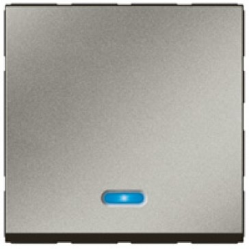 2-way push-button Arteor - with locator - 2 modules - magnesium