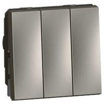 2 x 2-way + 1-way switch Arteor 20 AX 250 V~ - 3-gang - 2 modules - magnesium
