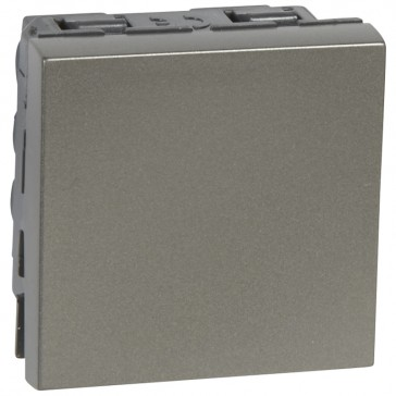 2-way double pole switch Arteor 20 AX 250 V~ - 2 modules - magnesium