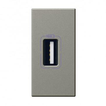 USB power supply Arteor - single USB sockets - 5 V- 750 mA - 1 module - magnesium