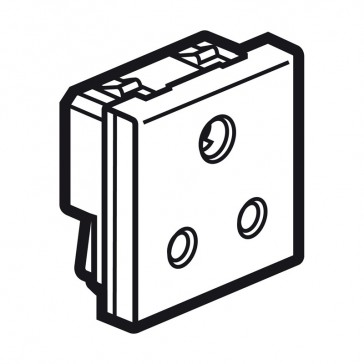Socket Arteor - BS 546 - 5 A - 2P+E - 2 modules - magnesium