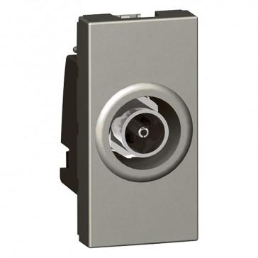 "TV socket Arteor - TV single shielded ""F"" type - 1 module - magnesium"